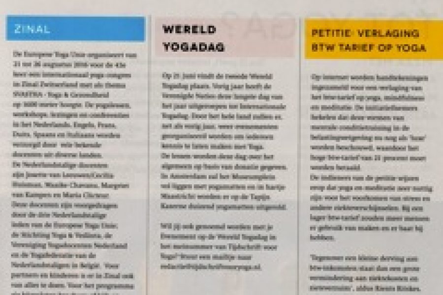 GLYM in magazine YOGA